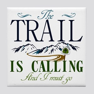 The Trail Is Calling [AT] Tile Coaster